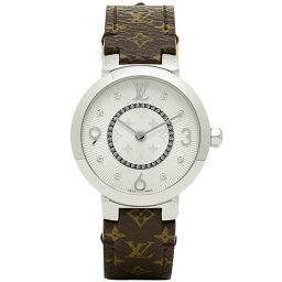 ルイヴィトン 腕時計(レディース) ルイヴィトン 時計 LOUIS VUITTON Q12MGB タンブール モノグラム PM 腕時計 ウォッチ ホワイト/ブラウン