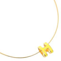 エルメス ネックレス(レディース) エルメス ネックレス HERMES 147001F 32 POP ポップ H ペンダント GOLD/JUANE SATURE ゴールド イエロー