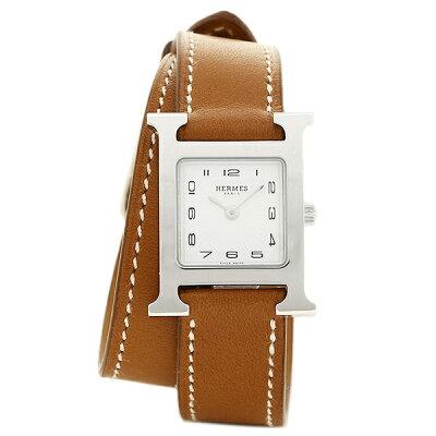HERMES 時計 レディース エルメス W036717WW00 HH1.210.131/VBA1 ブラウン/シルバー/ホワイト