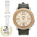 フェンディ FENDI 腕時計 レディース フェンディ F8012345H0+SSN18R06S ブラック/ローズゴールド/ホワイトパール
