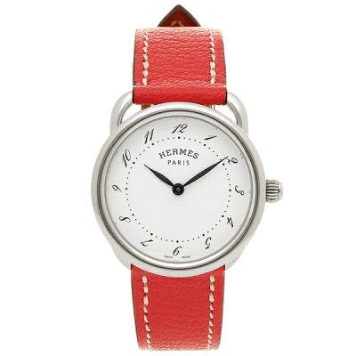 HERMES 腕時計 レディース エルメス AR5.210.130/OOA5 038467WW00 ピンク シルバー ホワイト