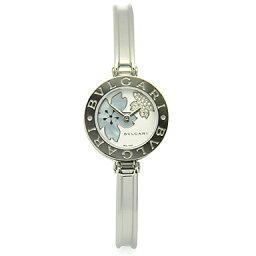 ビーゼロワン 腕時計(メンズ) ブルガリ 時計 BVLGARI 腕時計 レディース BZ22FDSS.M B-ZERO1 ビーゼロワン バングル ダイヤモンド フラワー ホワイト/ブルーシェル レディースウォッチ/シリアル有