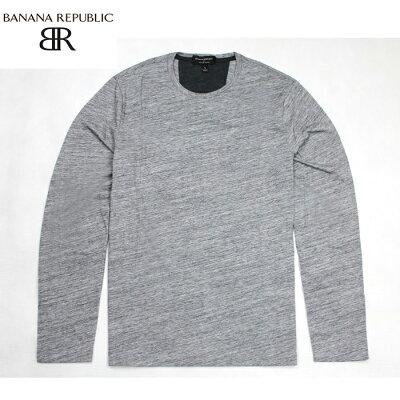BANANA REPUBLIC バナナリパブリック メンズ ロンTee 長袖Tシャツ ba316 グレー