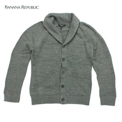 BANANA REPUBLIC バナナリパブリックメンズ ニットカーディガン 長袖 ba343 グレー[並行輸入品]