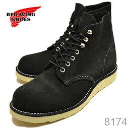 """レッドウイング RED WING レッドウィング 8174 CLASSIC WORK 6""""ROUND-TOE クラシックワーク 6インチ ラウンドトゥ BLACK ABILENE ROUGHOUT ブラック アビレーン ラフアウト 靴 ブーツ シューズ"""