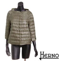 ヘルノ 送料無料 HERNO ヘルノ ライトダウンジャケット ショート丈 高級感のある綺麗なシルエット 超軽量なのにしっかり防寒 PI0613D 12017 [4135]【4800円以上送料無料】