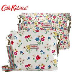 ショルダーバッグ Cath Kidston キャスキッドソン  リバーシブル メッセンジャーバッグ ショルダーバッグ 481762 Paradise Bunch Chalk 花柄×花柄