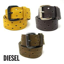 ディーゼル ベルト(メンズ) DIESEL ディーゼル ヴィンテージ加工 レザーベルト B-GROOVE BELT X03817 PR317 全3色 ディーゼル ベルト