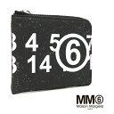 MM6 エムエム 6 メゾンマルジェラ Maison Margiela L字ファスナー ミニ財布 コンパクト コインケース ブラック S63UI0002 P3662 T8013 mm6 margiela 財布