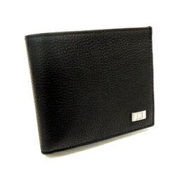 アボリティーズ dunhill L2R932A AVORITIESダンヒル アボリティーズ二折小銭財布型押レザー ブラック