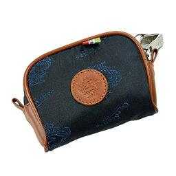 アクセサリーポーチ OROBIANCO 7025959オロビアンコ PRIOポーチロゴブルー×ブラウンレザー