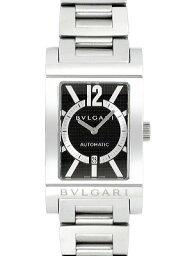 レッタンゴロ 腕時計(メンズ) BVLGARI RETTANGOLO RT45BRSSDブルガリ レッタンゴロメンズ 腕時計ブラック×シルバー