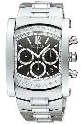 アショーマ 腕時計(メンズ) BVLGARI AA48BSSDCHAssioma 48mm Chronographブルガリ アショーマ クロノグラフ 48mmメンズ 腕時計 3針 自動巻 ステンレスシルバー×ブラック
