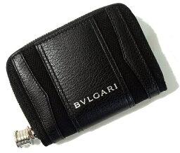 ブルガリ BVLGARI 34583 B-ZERO1ブルガリ ビーゼロワン コインケースミニジップウォレット 小銭入キャンバス×レザー ブラック