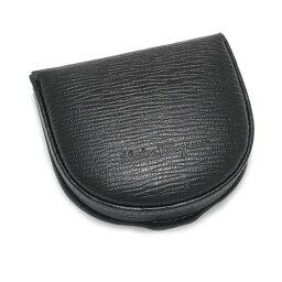 フェラガモ 財布(メンズ) Salvatore Ferragamo 66-7042サルヴァトーレフェラガモ 財布馬蹄型コインケース型押しカーフレザー ブラック