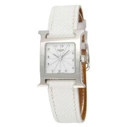 エルメス Hウォッチ 腕時計(レディース) HERMES HH1.210.132 UBCH WATCHエルメス エイチ ウォッチレディース 腕時計 クォーツレザーベルト ホワイト×シルバー