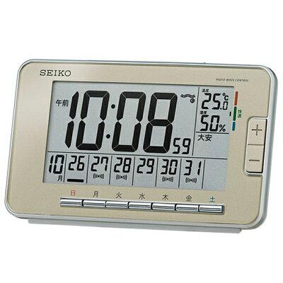 【割引クーポン配布中】SEIKO(セイコー) 目覚まし時計 電波時計 デジタル ウィークリーアラーム SQ774G