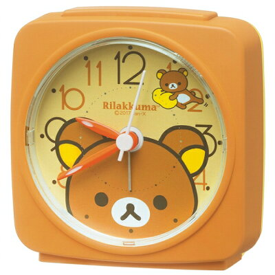 【ポイントアップ中&割引クーポン配布中】セイコー(SEIKO) キャラクター時計 リラックマ 目覚まし時計 置き時計 アナログ スイープ ライト CQ153B