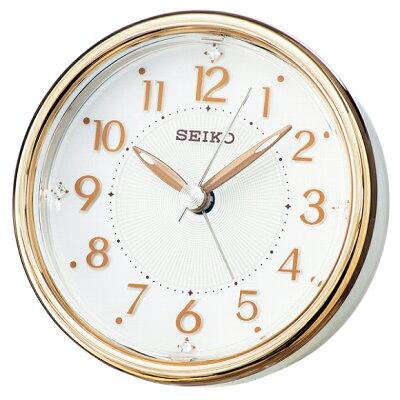 【割引クーポン配布中】セイコー(SEIKO) 目覚まし時計 置き時計 KR897B アナログ スイープ ライト付 おしゃれ