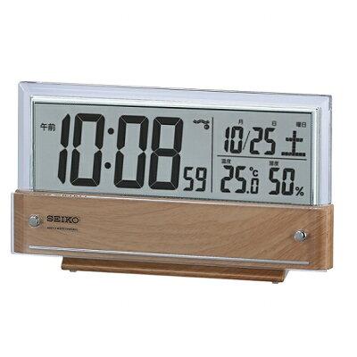 【ポイントアップ中&割引クーポン配布中】セイコー(SEIKO) 目覚まし時計 置き時計 電波時計 SQ782B デジタル シースルー表示 温度計 湿度計 おしゃれ