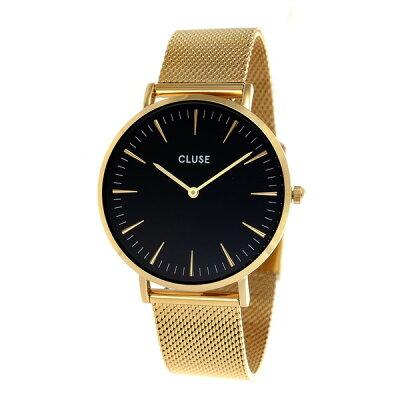 【送料無料】CLUSE CL18110 メッシュ ゴールド/ブラック ラ・ボエーム [クォーツ腕時計(レディース)]【並行輸入品】