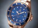 エルジン 腕時計(メンズ) エルジン ELGIN 腕時計 200m防水 自動巻き ダイバーズ FK1405PG-BL ピンクゴールド