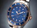 エルジン 腕時計(メンズ) エルジン ELGIN 腕時計 200m防水 自動巻き ダイバーズ FK1405PS-BL コンビ