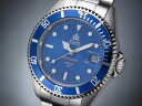 エルジン 腕時計(メンズ) エルジン ELGIN 腕時計 200m防水 自動巻き ダイバーズ FK1405S-BL ブルー
