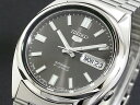 セイコーファイブ 腕時計(メンズ) SEIKO 5 セイコー5 逆輸入 日本製 自動巻き メンズ 腕時計 SNXS79J1 ブラック×シルバー メタルベルト