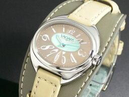 バガリー 腕時計(レディース) バガリー VAGARY クオーツ レディース 腕時計 IQ0-510-92 ベージュ×オリーブ レザーベルト