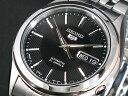 セイコーファイブ 腕時計(メンズ) SEIKO 5 セイコー5 逆輸入 日本製 自動巻き メンズ 腕時計 SNKL23J1 ブラック×シルバー メタルベルト