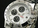 エルジン 腕時計(メンズ) エルジン ELGIN ダイバーズ 腕時計 クロノグラフ メンズ FK1184S-W ホワイト×ブラック シルバー メタルベルト