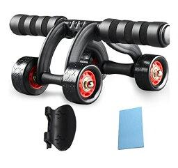 スリムトレーナー アブホイール エクササイズウィル FREETOO 腹筋ローラー エクササイズローラー 超静音 厚いマット付き スリムトレーナー 超静音 腹筋ローラー エクササイズローラー 膝を保護するマット付き