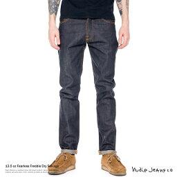 ヌーディージーンズ Nudie Jeans ヌーディージーンズ 112457030 45161-1260 Fearless Freddie Dry Selvage デニム メンズ ルーズフィット キャロットシェイプ セルヴィッチ 129 7553
