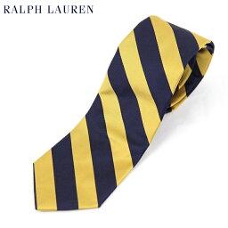 ラルフローレン ネクタイ POLO by Ralph Lauren Silk Necktie (NAVY/GOLD) US ポロ ラルフローレン シルク ネクタイ レジメンタル ストライプ