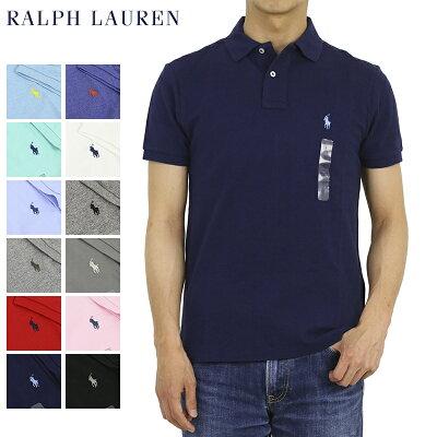 100a8f8cd58eee ポロ ラルフローレン カスタム スリム フィット 半袖 カノコ ポロシャツ 無地 ワンポイント POLO Ralph Lauren Men's