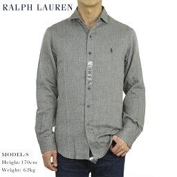 """ラルフローレン ポロ ラルフローレン スリムフィット ガーゼヘリンボーン ワイドカラー 長袖シャツ Ralph Lauren Men's """"SLIM FIT"""" Spread-Collar Shirts"""