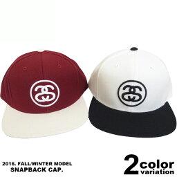 ステューシー ステューシー STUSSY スナップバックキャップ 帽子 SS-LINK FA16 CAP (2色) [131620] 【STUSSY stussy ローキャップ 帽子 新品 メンズ アメカジ】【あす楽対応】