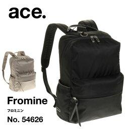 エース リュックサック レディース 軽量 ace. フロミニン Mサイズ 11リットル マルチポーチ付き 54626