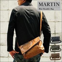 トリックスター ミニメッセンジャー メンズ 小さめ コンパクトミニメッセンジャーバッグ TRICKSTER martin マーティン ショルダー 送料無料!(地域限定) ブラック ブラウン キャメル おしゃれ 使いやすい 機能性 本革風