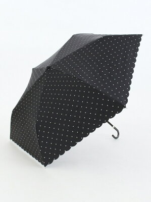 [Rakuten BRAND AVENUE]スカラップドットプリント晴雨兼用折りたたみ傘 日傘 アフタヌーンティー・リビング ファッショングッズ