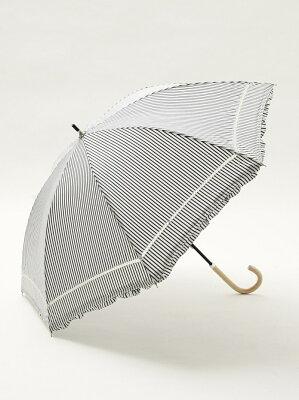 [Rakuten BRAND AVENUE]ストライプフリル晴雨兼用長傘 日傘 アフタヌーンティー・リビング ファッショングッズ