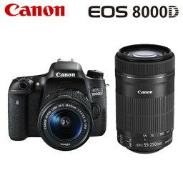 canon キヤノン デジタル一眼レフカメラ EOS 8000D ダブルズームキット EOS8000D-WKIT 【送料無料】【KK9N0D18P】