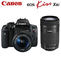 canon キヤノン デジタル一眼レフカメラ EOS Kiss X8i ダブルズームキット EOSKiss-X8i-WKIT 【送料無料】【KK9N0D18P】