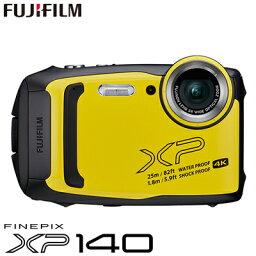 FinePix 【即納】富士フイルム タフネスカメラ FinePix XP140 防水 耐衝撃 防塵 耐寒 4K動画 デジタルカメラ XPシリーズ FX-XP140Y イエロー【送料無料】【KK9N0D18P】