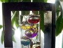 温湿時計 木枠付きガリレオ温度計Lサイズ(44cm:卓上)【送料無料】