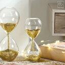 砂時計 砂時計:MASCAGNI 金 グリッター ガラス砂時計 C553