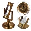 砂時計 砂時計:真鍮の3分サンドタイマー&コンパス G559-561