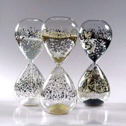 砂時計 砂時計:銀箔 30分 ガラス砂時計 O1283