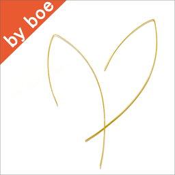 バイボー 【送料無料】SALE バイボー byboe ワイヤー ピアス シリコンキャッチ付き Wire Earring GOLD セレブ 愛用 【楽ギフ_○○】【RCP】 05P03Dec16